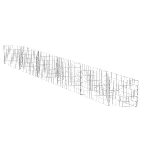 "vidaXL Gabion Basket/Planter/Raised Bed 118.1""x11.8""x19.7"""