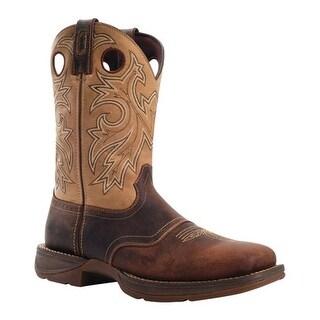 "Durango Boot Men's DB4442 11"" Saddle Up Brown/Tan"