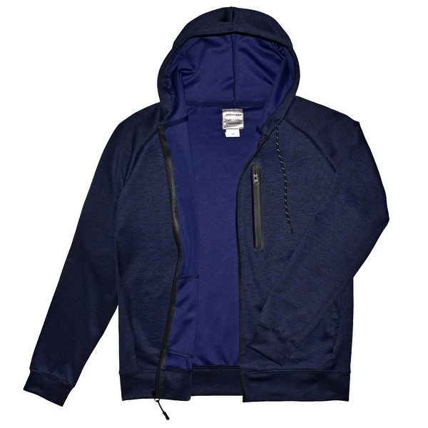 Mens Active Space-Dye Zip-Up Hoodie with Tech Pockets