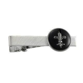 Stainless Steel Fleur de Lis Tie Clip - Silver