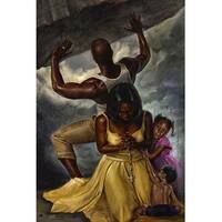 ''Behind Every Great Man'' by WAK - Kevin A. Williams African American Art Print (36 x 24 in.)
