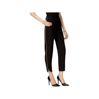 Nine West Womens Plus Casual Pants Piping Pleated