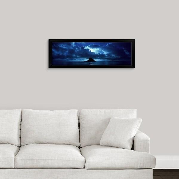 """""""Island in the sea, Chinaman's Hat (Mokolii), Oahu, Hawaii"""" Black Framed Print"""