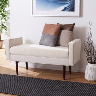 "Link to Safavieh Henri Mid-Century Modern 25-inch Bench - 49"" W x 18"" L x 25"" H - 49"" W x 18"" L x 25"" H Similar Items in Living Room Furniture"