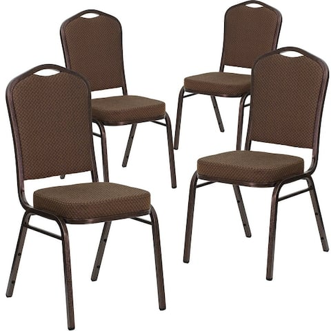 4 Pack Crown Back Stacking Banquet Chair
