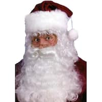 Santa Claus Costume Accessory Set - Beard, Wig & Eyebrows - WHITE