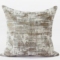 "G Home Collection Luxury Light Gold Mix Color Metallic Chenille Pillow 22""X22"""