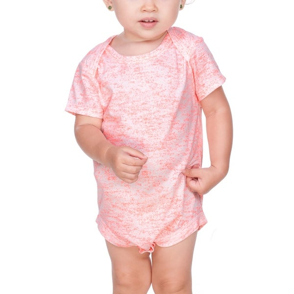 Kavio!Infants Static Jersey Print Lap Shoulder Short Sleeve