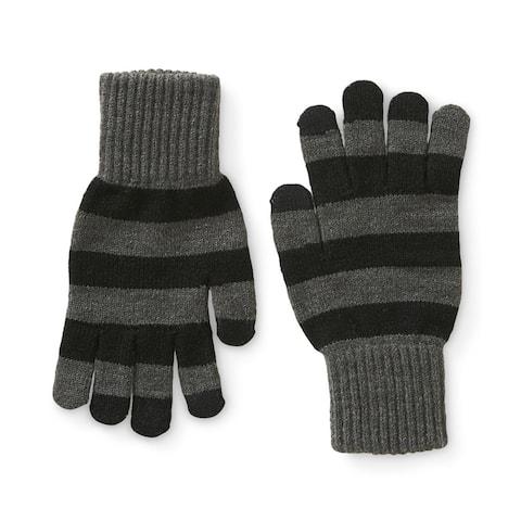 Aeropostale Mens Stripe Tech Gloves - One Size