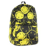 Nirvana Backpack Smiley Face Rock Band Music Logo - One Size Fits most