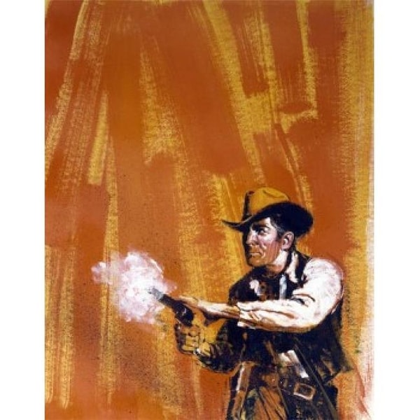 397f3ed50947 Shop Painting of Cowboy Shooting Angry Gunfire Artist Unknown American -  Free Shipping Today - Overstock - 24549892
