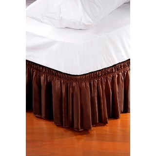 Wrap Around Style Easy Fit Elastic Bed Ruffles For King And Queen Size Beds