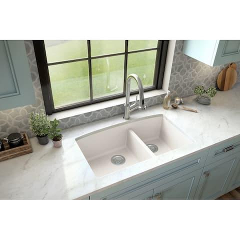 Karran Undermount Quartz Double Bowl Kitchen Sink