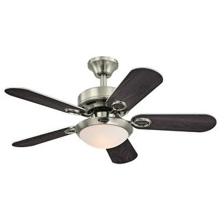 "Westinghouse 7203200 Cassidy 36"" 5 Blade Hanging Ceiling Fan with Reversible Mot"