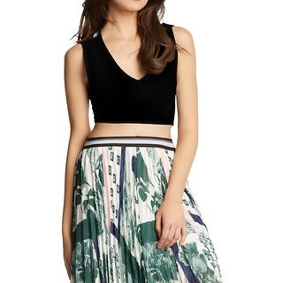 Kiind Of Womens Christina Crop Top Racerback Side Zip