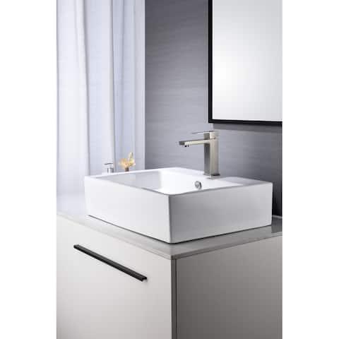 Global Pronex Bathroom Sink Faucet Single Handle Single Hole Lavatory Bathroom Faucet, Brushed