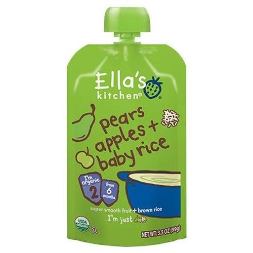 Ella's Kitchen - Pears Apples & Baby Rice ( 12 - 3.5 OZ)
