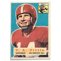 YA Tittle 1956 Topps San Francisco 49ers Football Trading Card #86- OC- minor wear