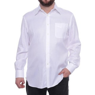 Ike Behar LS Reg Herringbone Long Sleeve Collared Neck Dress Shirt Men