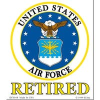 U.S. Air Force Retired Decal Sticker 4""