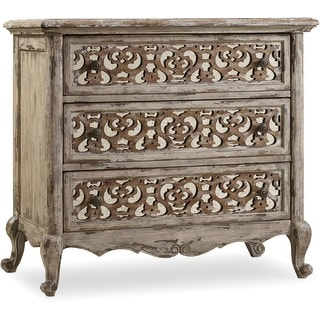 """Hooker Furniture 5351-90016  37"""" Wide 3 Drawers Hardwood Nightstand from the Chatelet Collection"""