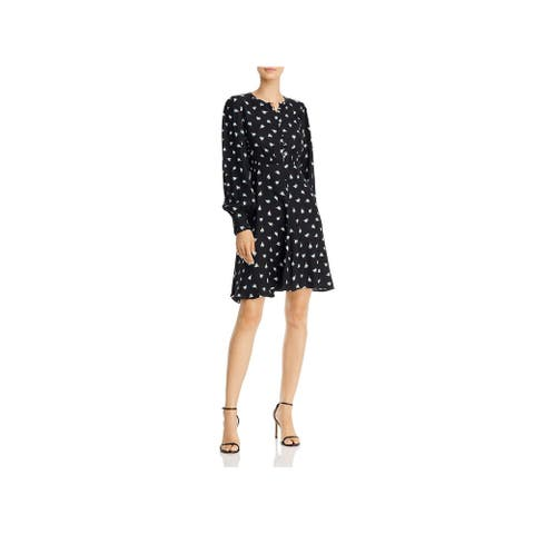 REBECCA TAYLOR Black Long Sleeve Above The Knee Dress 10