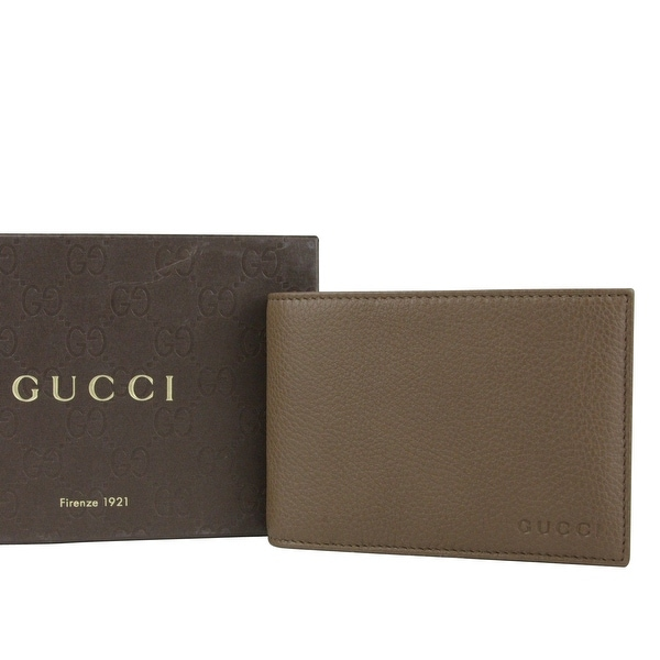 39375fc071c9e2 Gucci Bifold Brown Leather Wallet With Logo and Coin Pocket 292534 2527 -  One size