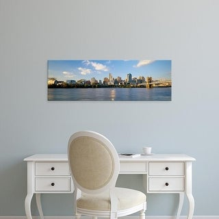 Easy Art Prints Panoramic Images's 'Buildings at the waterfront, Ohio River, Cincinnati, Ohio, USA' Premium Canvas Art
