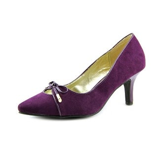 Karen Scott Gracey Women Pointed Toe Canvas Purple Heels