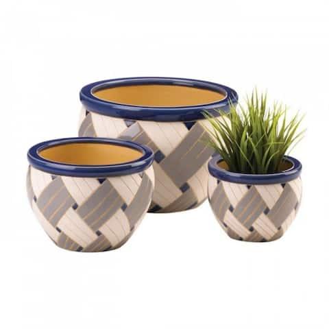 Weaved Design Planter Set Of 3