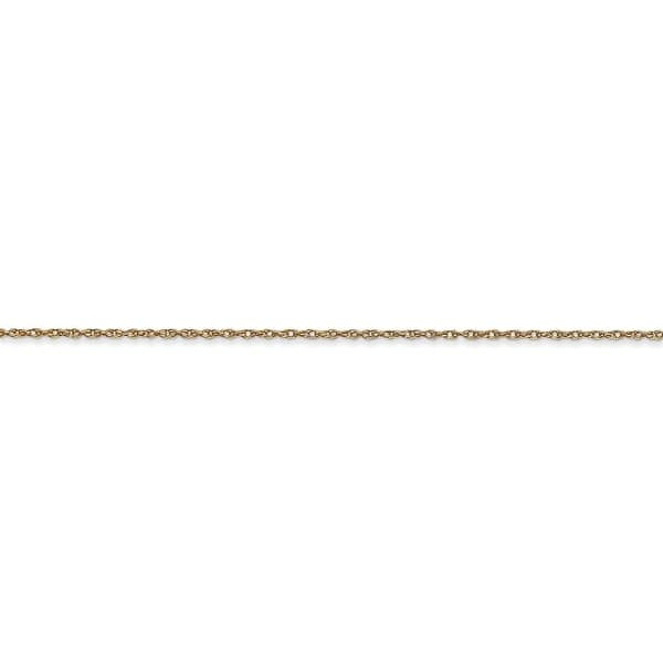 Real 14kt White Gold .6 mm Carded Cable Rope Chain; 18 inch