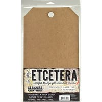 "Tim Holtz Etcetera Large Tag 8.25""X14.25""-"