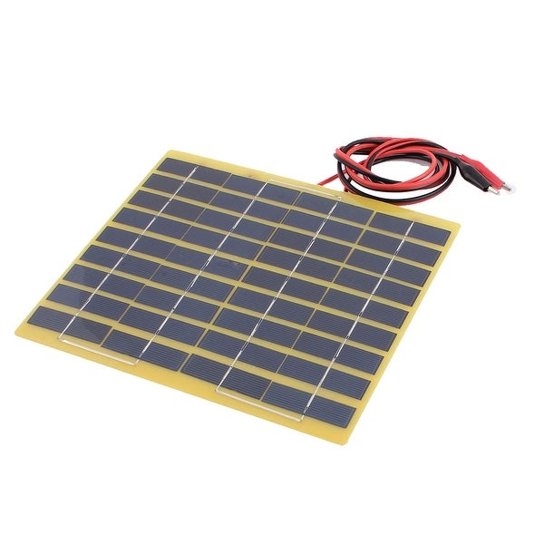 Unique Bargains DC 18V 5W Polysilicon Energy Saving Solar Cell Panel Module w Alligator clips