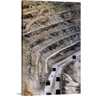 """Bingham Canyon Mine near Salt Lake City"" Canvas Wall Art"
