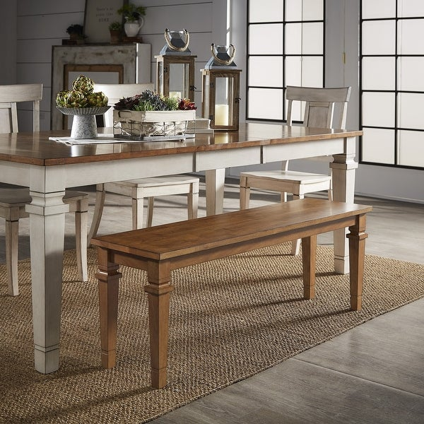 Elena Solid Wood Dining Bench by iNSPIRE Q Classic. Opens flyout.