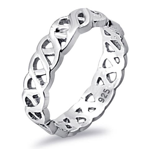 Designer Plain Sterling Silver Band Ring by Orchid Jewelry