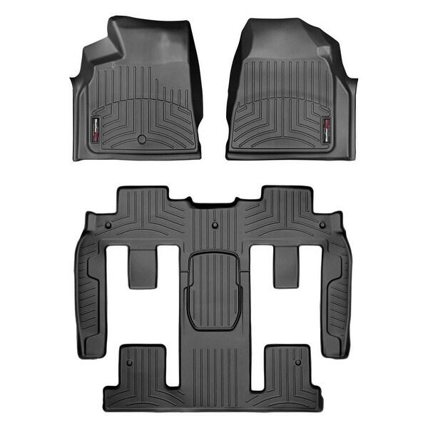 WeatherTech 447021-441114 Black Front & Rear FloorLiner: Buick Enclave 2008 +, Chevrolet Traverse 2009 +, GMC Acadia 2007 +