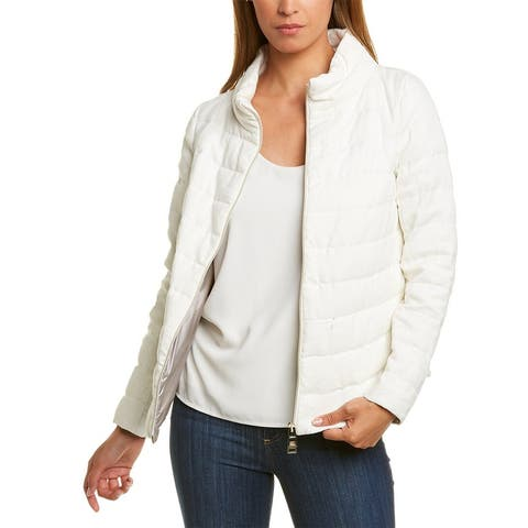 Herno Padded Linen Puffer Down Jacket