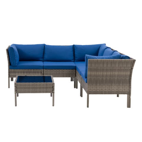 CorLiving Grey Parksville Patio Sectional 6pc