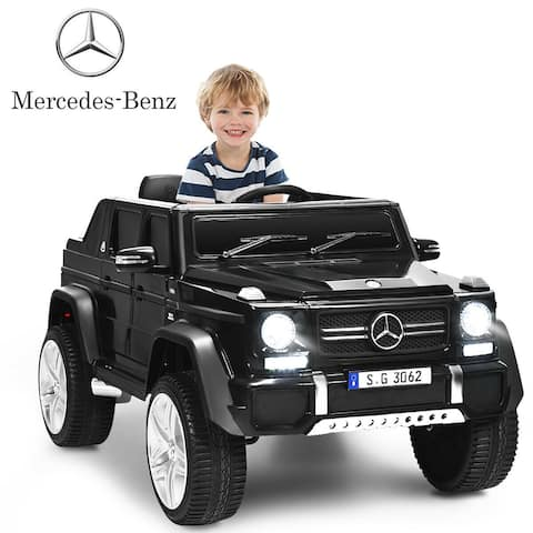 Gymax 12V Licensed Mercedes-Benz Kids Ride On Car RC Motorized - 45'' X 30.5'' X 22.5'' (L X W X H)