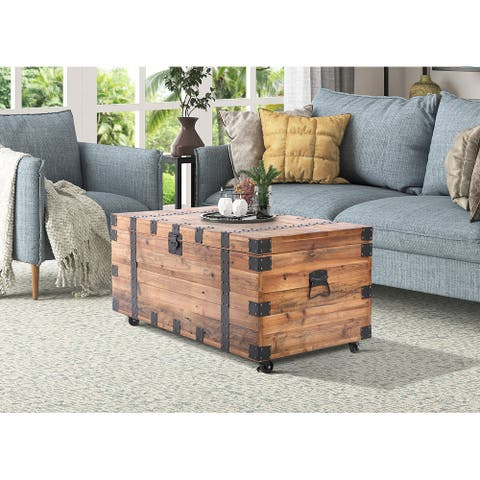 """Brenton Natural Reclaimed Wood 41"""" Trunk Table"""