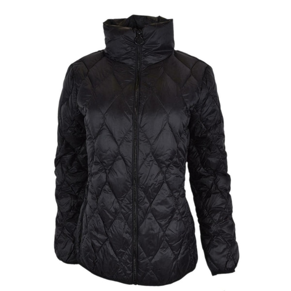 9590cea46e4a Michael Kors Women  x27 s Black Quilted Nylon Packable Down Puffer Jacket