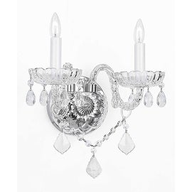 Swarovski Crystal Trimmed Wall Sconce Murano Venetian Style Crystal Wall Sconce