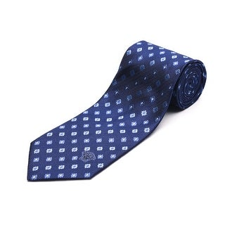 Versace Men's Medusa Head Silk Neck Tie Navy Blue
