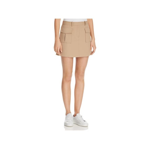 Theory Womens Lupah Mini Skirt Twill Mini
