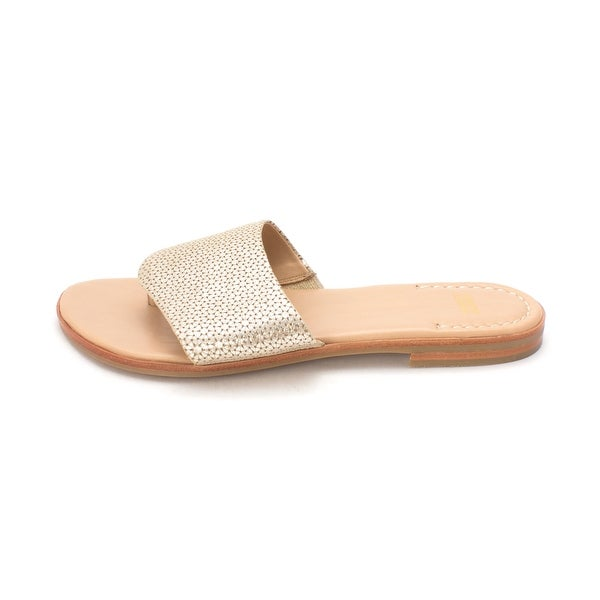 Johnston & Murphy Womens Raney Leather Open Toe Casual Slide Sandals - 10