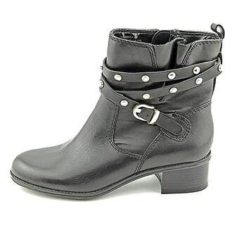 Bandolino Women's Cameria Leather Motorcycle Boot