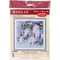 "Lilacs After The Rain Counted Cross Stitch Kit-17.75""X17.75"" 10 Count"