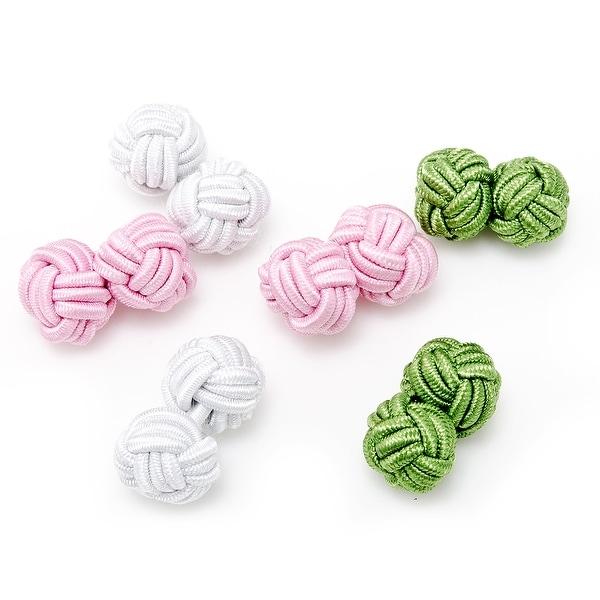 Spring Fling Silk Knot Cufflinks
