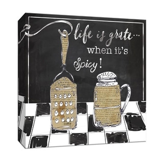 """PTM Images 9-147165  PTM Canvas Collection 12"""" x 12"""" - """"Life is Grate"""" Giclee Sayings & Quotes Art Print on Canvas"""